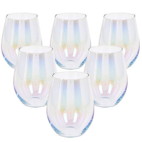 Duhový pohárek, 500 ml, 6 ks