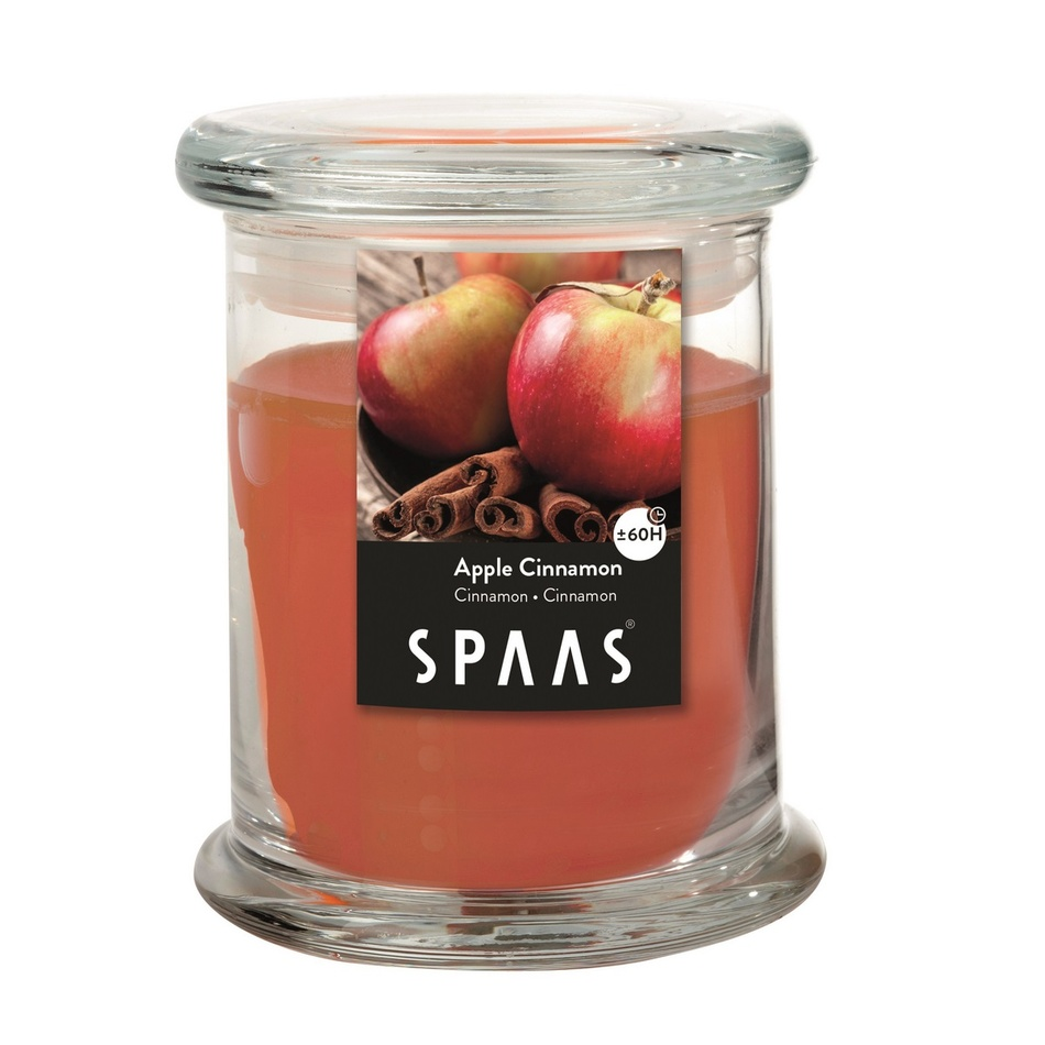 SPAAS Vonná svíčka ve skle Apple Cinnamon, 11 cm, 11 cm