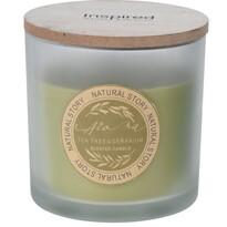Lumânare în pahar Natural story Tea tree  Geranium