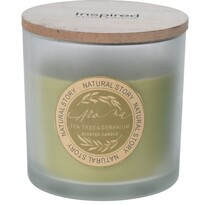 Natural story Tea tree Geranium gyertya üvegben