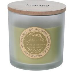 Svíčka ve skle Natural story Tea tree & Geranium