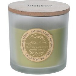 Sviečka v skle Natural story Tea tree & Geranium