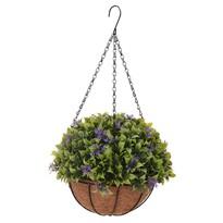 Koopman Sztuczny kwiat w wiszącej doniczce Chatty, 20 cm