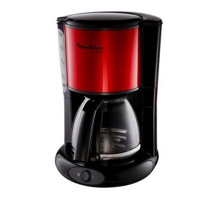 Kávovar, FG360D30, 1,25 l, Moulinex, černá + vínová