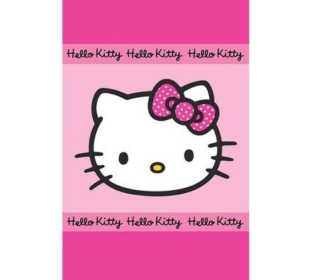 Ručník Hello Kitty, 40 x 60 cm, růžová, 40 x 60 cm