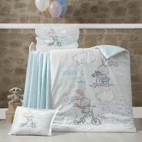 Rabbit gyerek pamut ágyneműhuzat a kiságyba, 100 x 135 cm, 40 x 60 cm