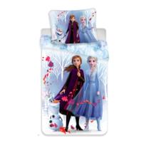 Lenjerie de pat copii, din bumbac, Frozen 2 white, 140 x 200 cm, 70 x 90 cm