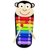 Bino Kovový xylofon Opička, 33 x 14 x 3 cm