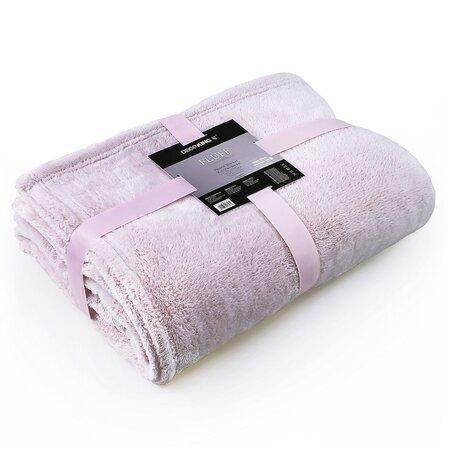Pătură DecoKing Fluff, roz deschis, 150 x 200 cm