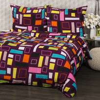 Lenjerie de pat din crep Bruno Vega, 140 x 200 cm, 70 x 90 cm