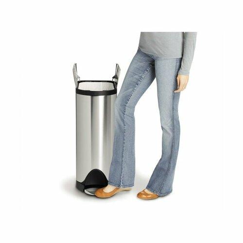 Simplehuman Pedálový odpadkový kôš 45 l, nerez