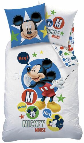 CTI Dětské bavlněné povlečení Mickey Mouse Expression, 140 x 200 cm, 70 x 90 cm