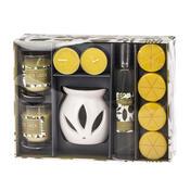 Set lumânări şi aroma-lampă Herb Garden Lime verbena