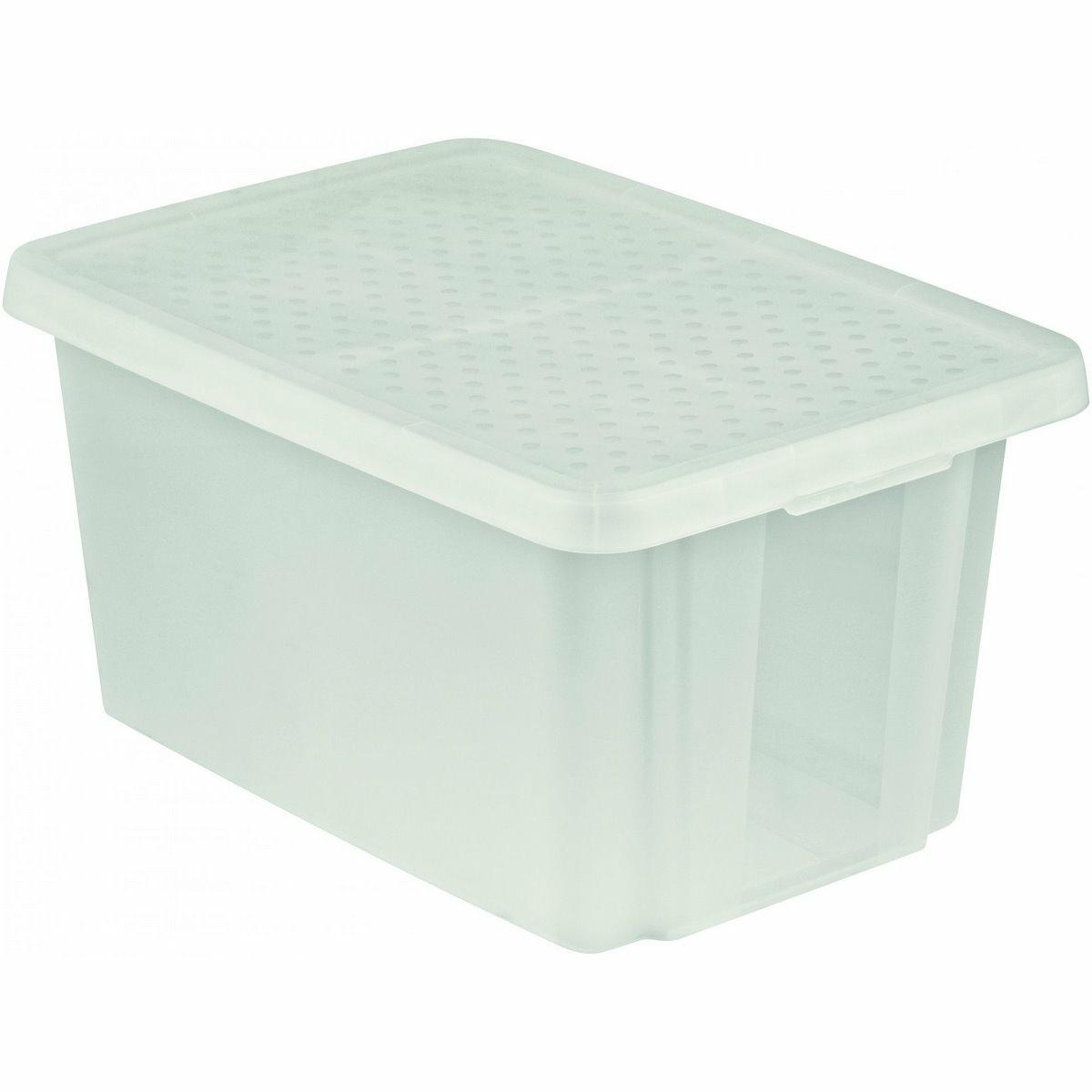 Curver Úložný box Essentials s víkem 45 l, čirá