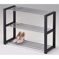 Półka na buty, 3 piętra, czarna