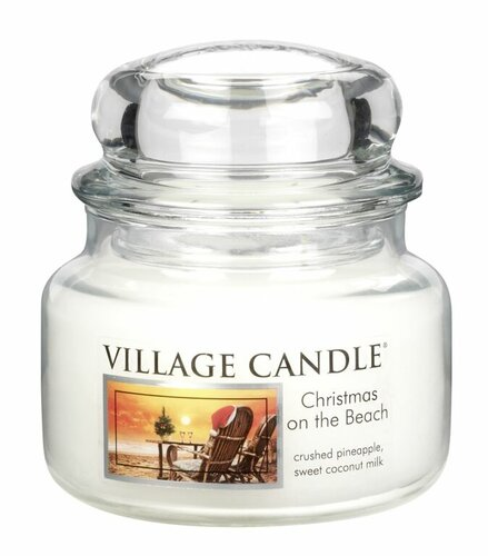 Village Candle Vonná svíčka ve skle, Vánoce na pláži - Christmas on the beach, 269 g, 269 g
