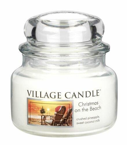 Village Candle Vonná svíčka ve skle, Vánoce na pláži - Christmas on the beach, 269 g, 269 g