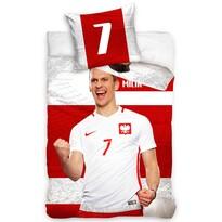 Bavlněné povlečení Polska Milik Stripe, 160 x 200 cm, 70 x 80 cm