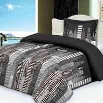 City mikroplüss ágynemű, sötétszürke, 140 x 200 cm, 70 x 90 cm