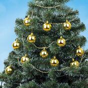 Vánoční sada koule a řetízek, zlatá