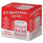 Toaletní papír vánoční bílá +potisk