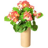 Sztuczna Pelargonia różowy, 30 cm