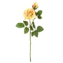 Floare artificială Trandafir galben, 46 cm