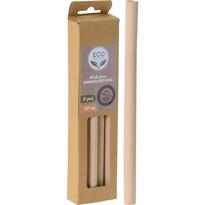 ECO Friendly 8dílná sada bambusových brček, 20 cm