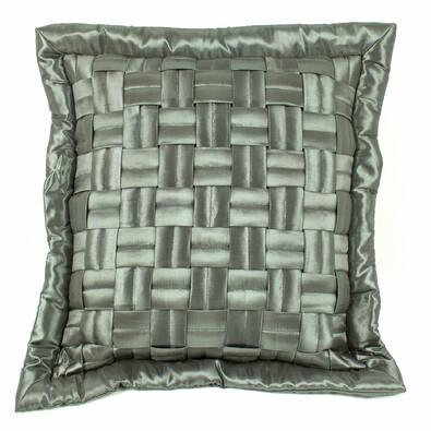 Povlak na polštářek mřížka šedá, 45 x 45 cm