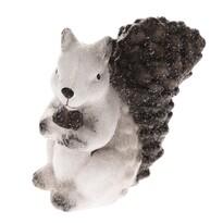 Dekoracja ceramiczna Wiewiórka, 15 x 15 cm