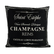 Povlak na polštářek Gobelín Champagne černý , 45 x 45 cm