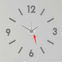 Nástěnné nalepovací hodiny Galant 60 cm, šedá