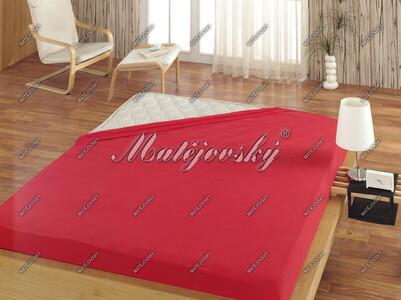 Matějovský prostěradlo Jersey červená, 200 x 220 cm