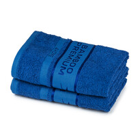 4Home Ručník Bamboo Premium modrá, 30 x 50 cm, sada 2 ks