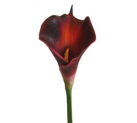 Umělá květina kala burgundy