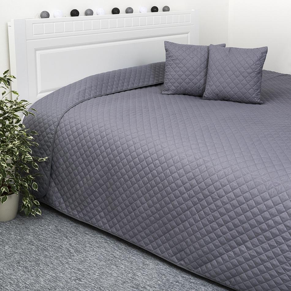 Produktové foto 4Home Přehoz na postel Orient šedá, 220 x 240 cm, 40 x 40 cm