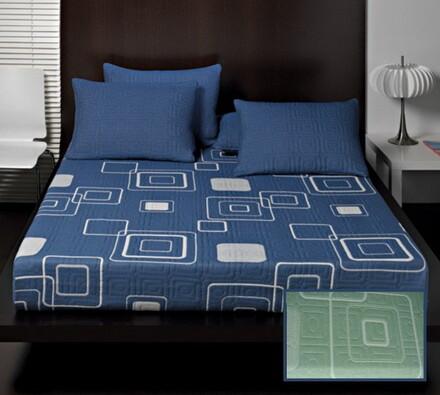 Přehoz na postel Amara, zelená, 240 x 260 cm