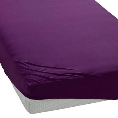 BedTex jersey prostěradlo fialová, 180 x 200 cm