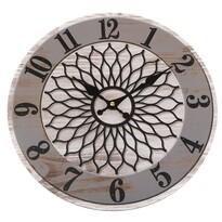 Nástěené hodiny Mandala 34 cm, sivá