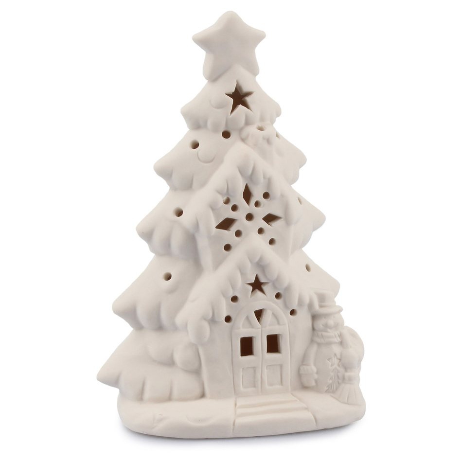 Vánoční porcelánový LED Stromeček, bílá
