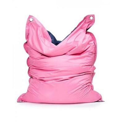 Sedací pytel s popruhy Pink - Jeans 181 x 141 cm