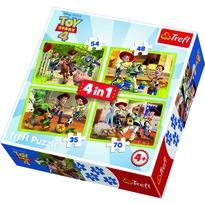 Trefl Puzzle Příběh hraček 4, 4 ks (35,48,54,70 dílků)