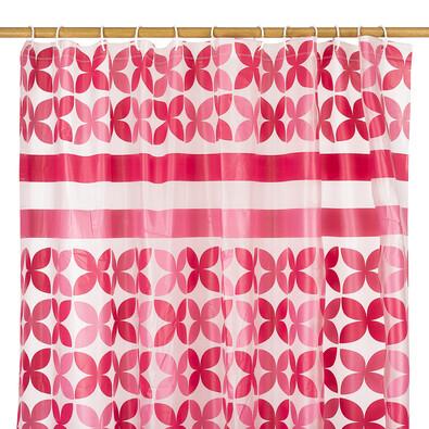 Sprchový záves Motýľ ružová, 180 x 180 cm