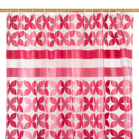 Sprchový závěs Motýl růžová, 180 x 180 cm