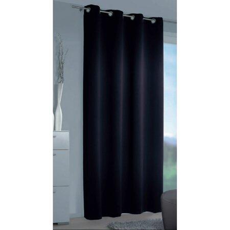 Zatemňovací závěs Mia černá, 140 x 245 cm