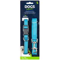 Dogs Obojek pro psa s vodítkem vel. medium,  modrá