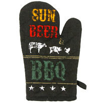 Rękawica kuchenna Sun, beer  BBQ, 17 x 27 cm
