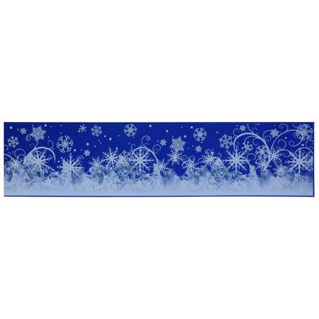 Okenní fólie Sněhové vločky, 64 x 15 cm