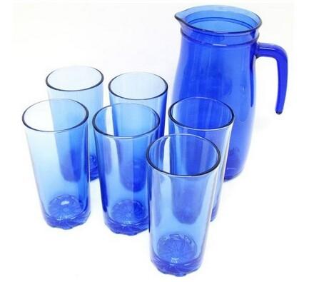 Set džbánu a šesti sklenic