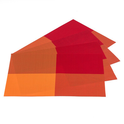 Prostírání DeLuxe oranžová, 30 x 45 cm, sada 4 ks